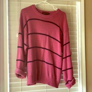 Vintage Eddie Bauer pink/ blue striped sweater